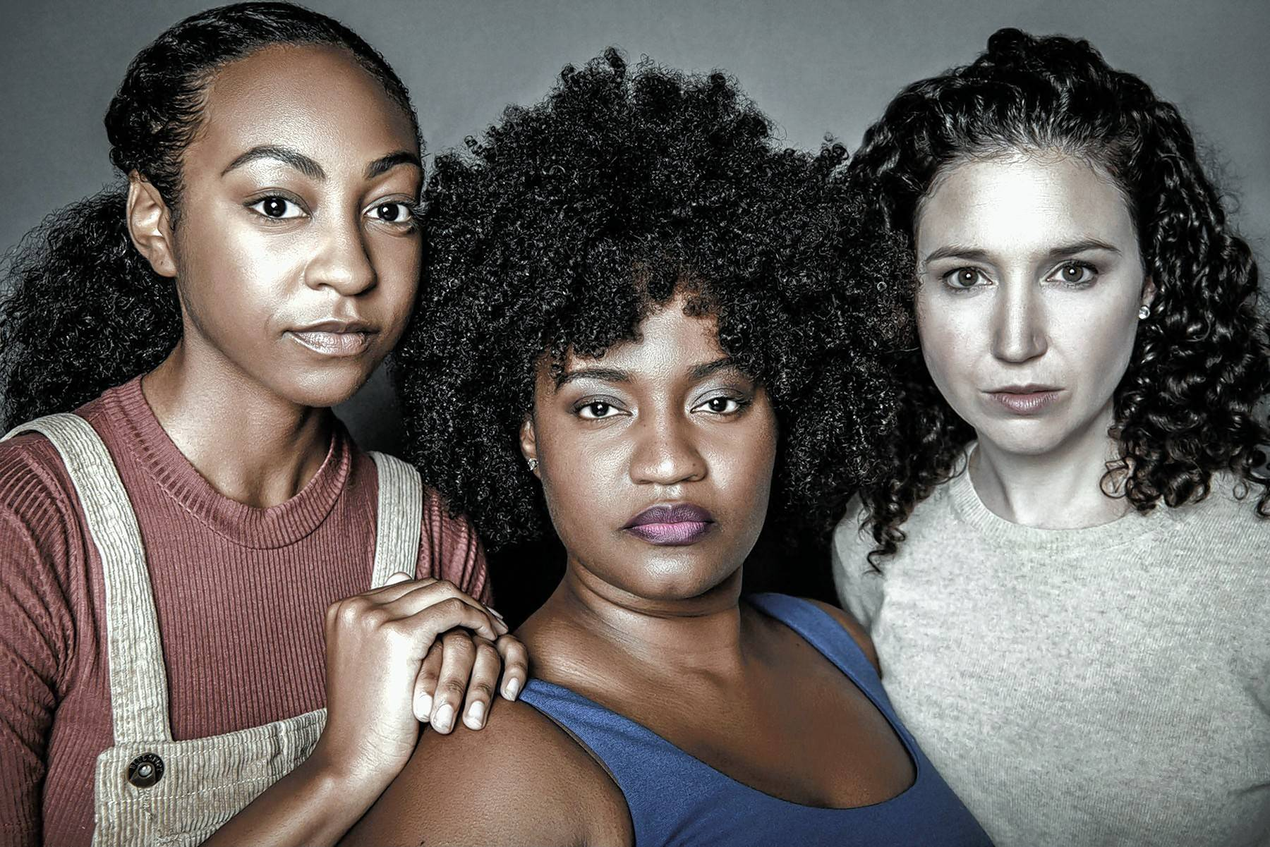 "Bree Jacobs, left, Rashada Dawan and Blair Robertson star in Firebrand Theatre's revival of the musical ""Caroline, or Change"" presented in association with TimeLine Theatre Company."
