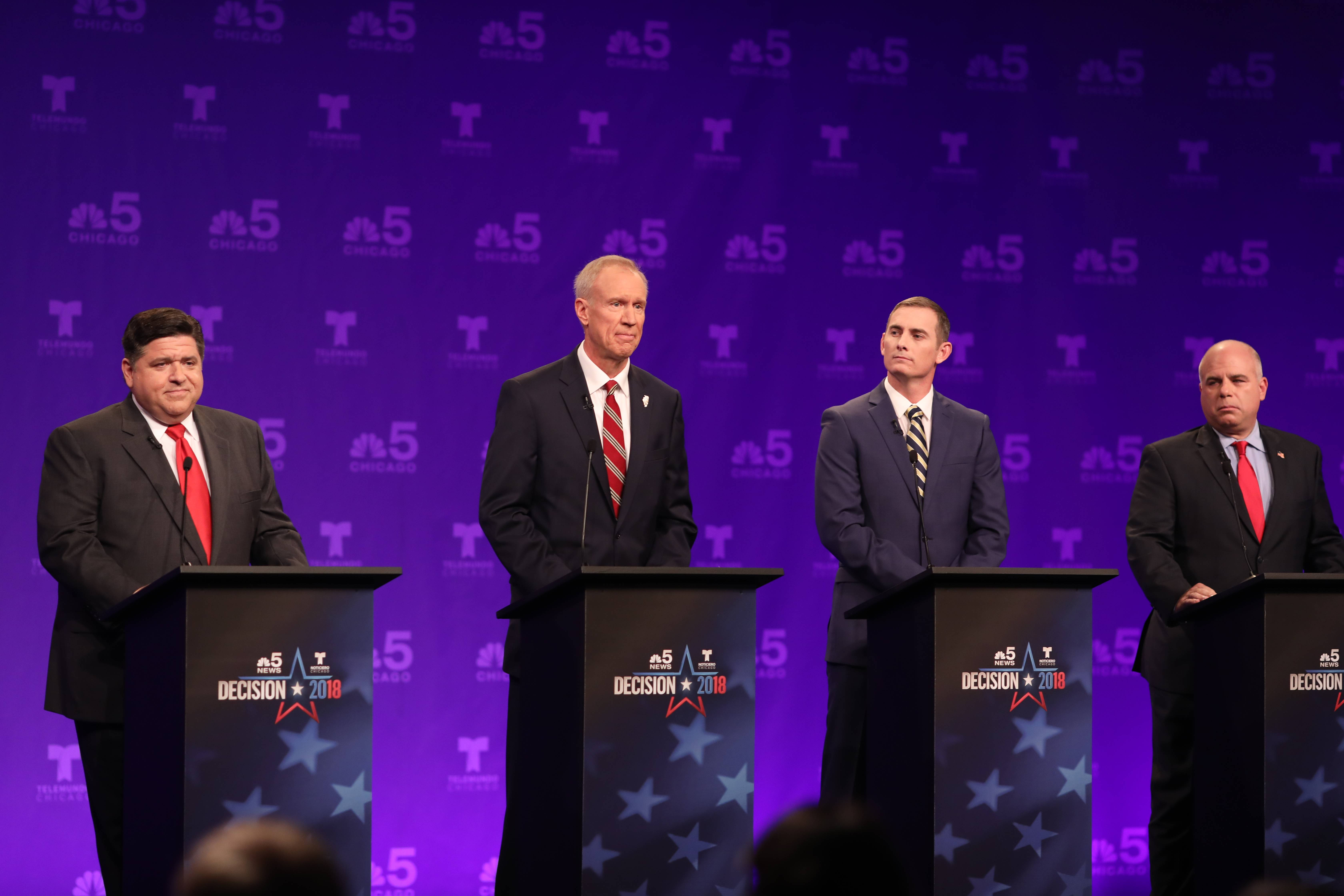 'Liar,' 'failure,' 'phony': Going gets nasty with jabs in first gubernatorial debate