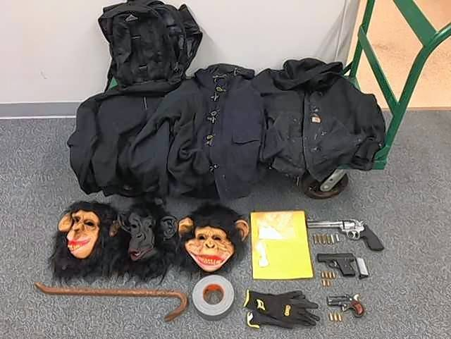 Lake County Sheriff's police say a deputy conducting a traffic stop Wednesday found three Wisconsin men with loaded guns, masks, heavy jackets and illegal drugs.