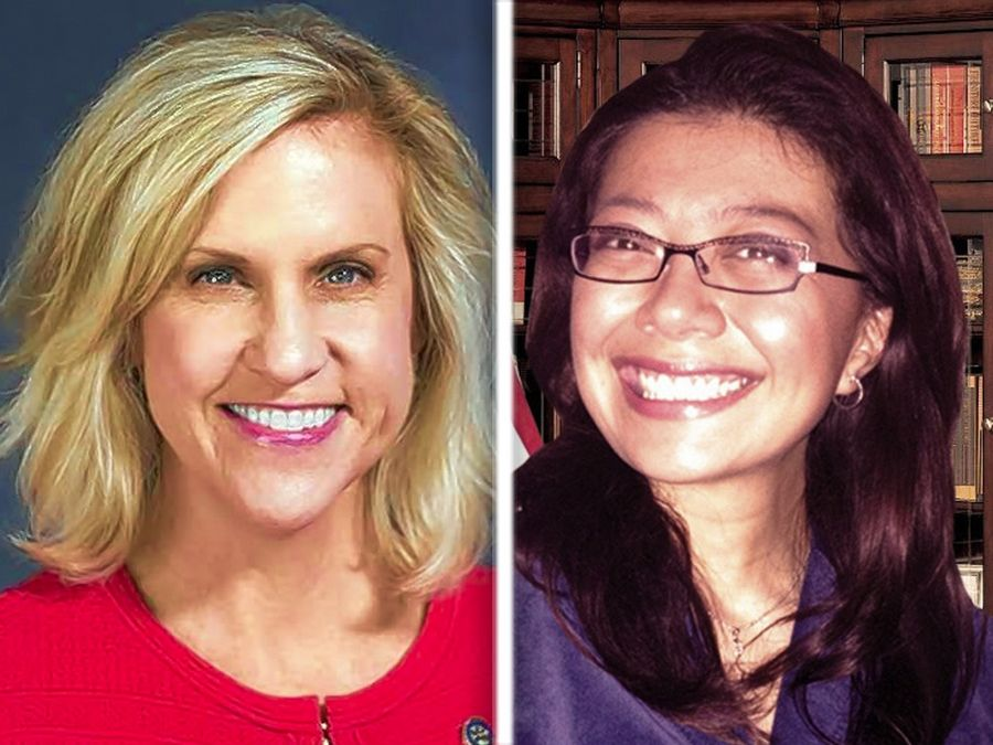 Aurora Republican Tonia Khouri, left, and West Chicago Democrat Karina Villa, right, are candidates vying to represent the 49th Illinois House District.