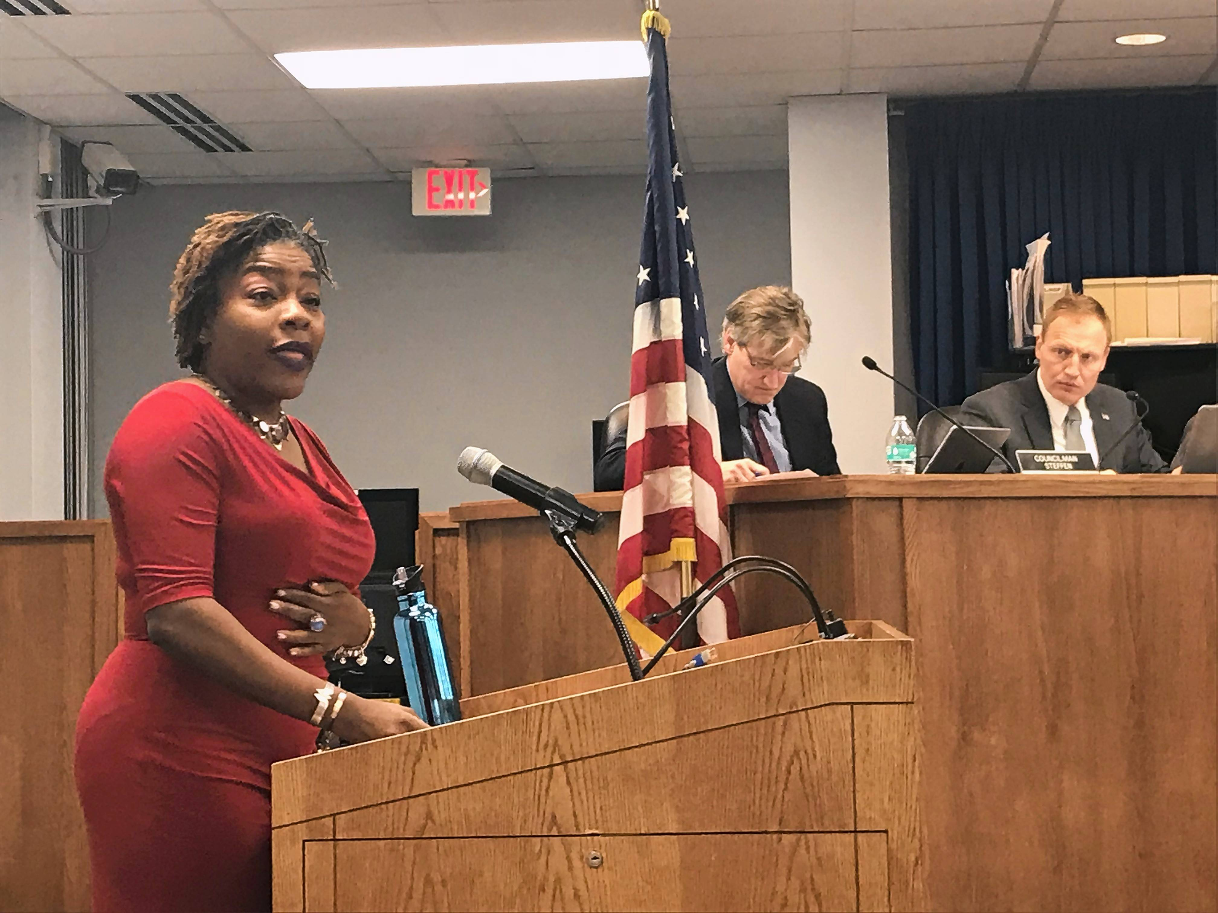 The city of Elgin has put on hold the work of diversity consultant Denise Barreto, shown here, after complaints from police officers about some of her Facebook posts.