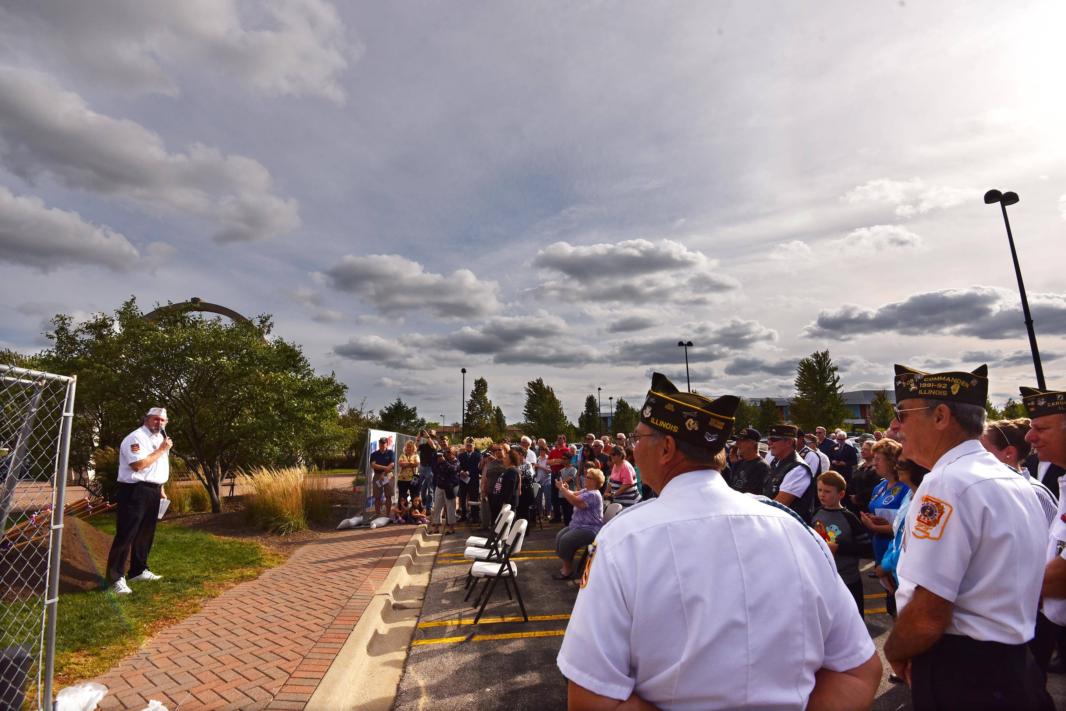 Carol Stream vets, leaders break ground on new memorial, but not 'done yet'