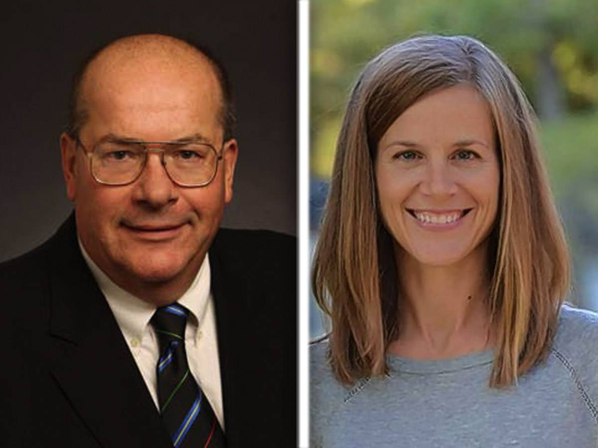 Republican incumbent Chuck Bartels and Democrat Jessica Vealitzek are candidates for the Lake County Board District 10 seat.