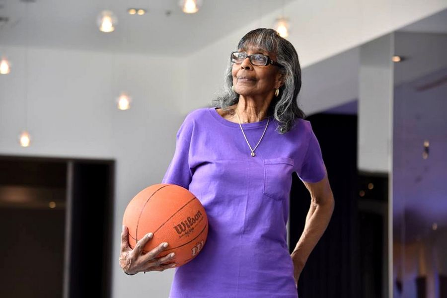 "COURTESY OF EDWINA DENNISAt 81, Chicago resident and basketball player Edwina Dennis lives by the motto ""if you don't move it, you will lose it."""