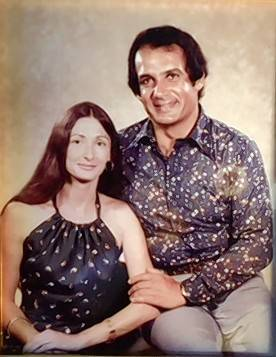 Photo of Susan and Baheej in 1973. They were so young then, and lucky to have a happy life together for many years, Susan says.