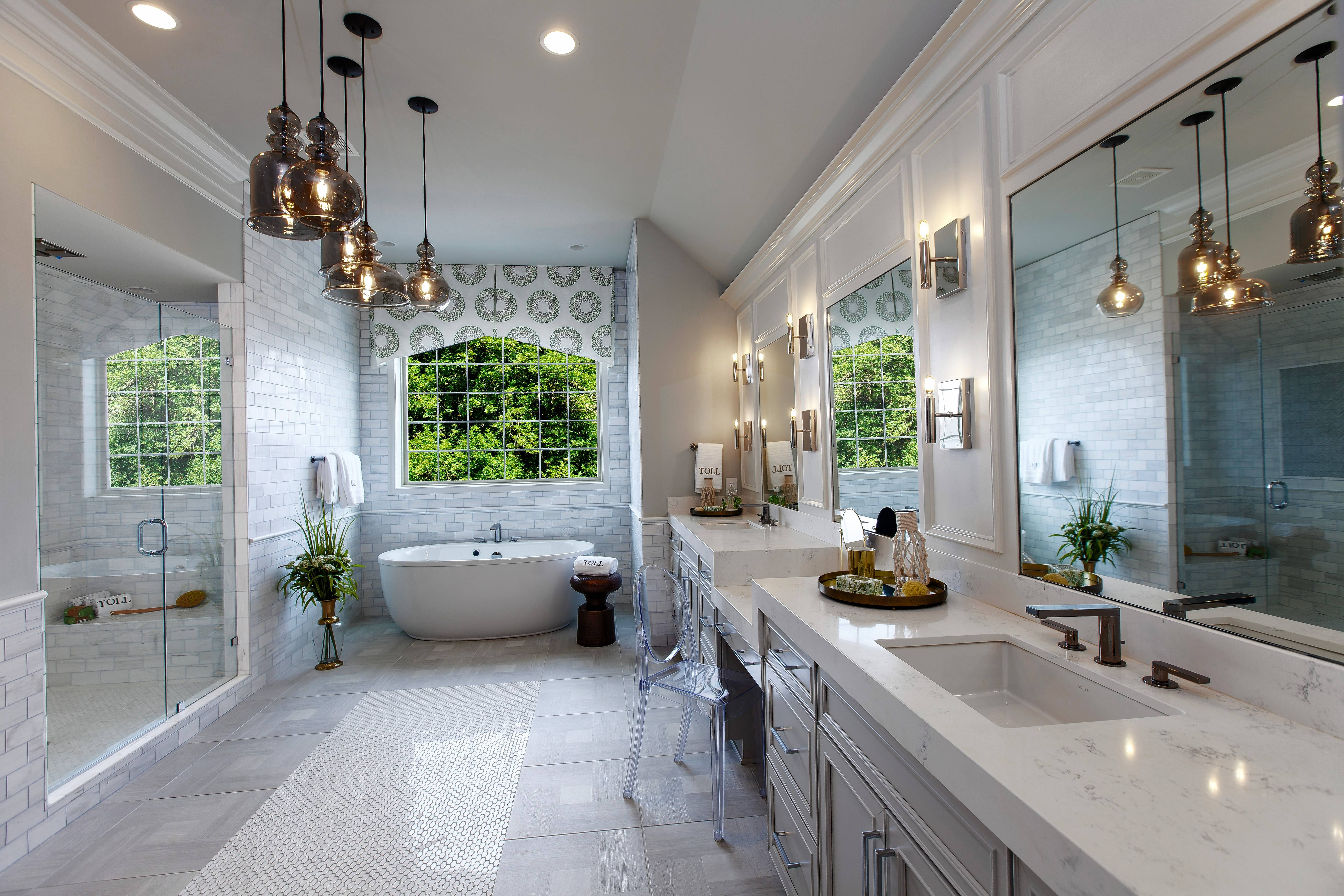 Master bathrooms get the luxury treatment in a high-end home. Toll Brothers is building The Woods of South Barrington, where homes start in the mid-$800,000s.