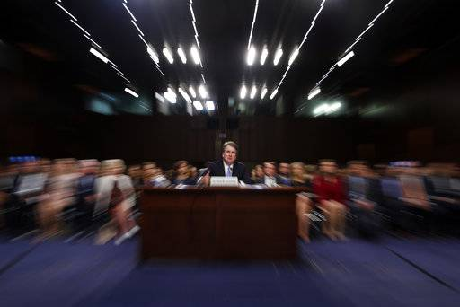 President Donald Trump's Supreme Court nominee Brett Kavanaugh testifies before the Senate Judiciary Committee on Capitol Hill in Washington