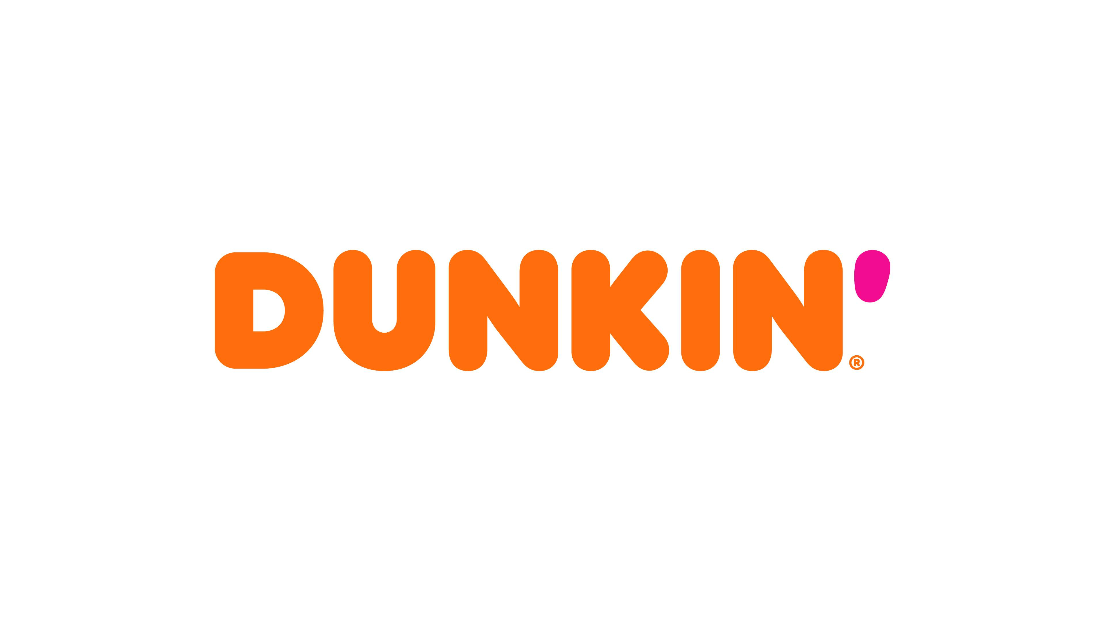 "This undated image provided by Dunkin' shows a new Dunkin' logo that will be in restaurants in January 2019. Dunkin' is dropping the donuts — from its name, anyway. Doughnuts are still on the menu, but the company is renaming itself ""Dunkin'"" to reflect its increasing emphasis on coffee and other drinks. (Dunkin' via AP)"