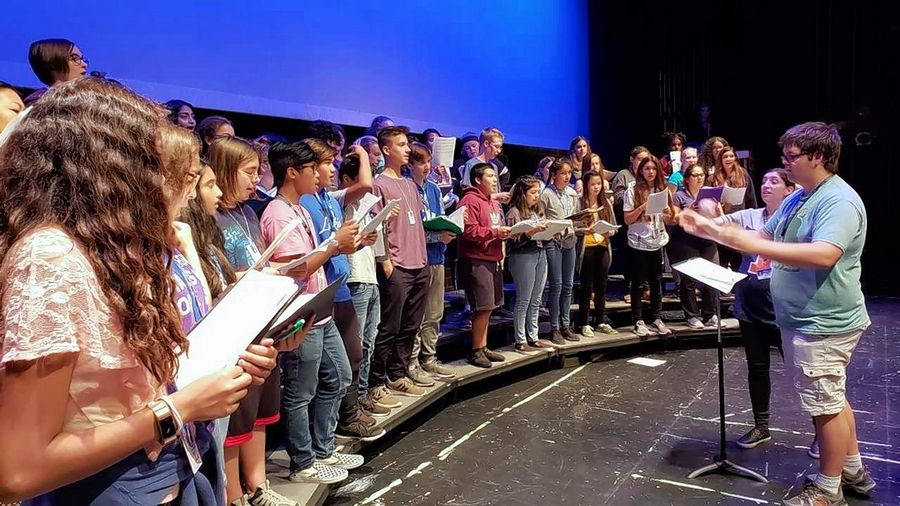 "Larkin High School's Visual and Performing Arts Academy students will perform an original musical titled, ""Ocean Born Mary"" Thursday and Friday at the Elgin school. The production has been a year-and-a-half in the making and involves 150 students. The free performances begin at 7 p.m. in the school's auditorium."