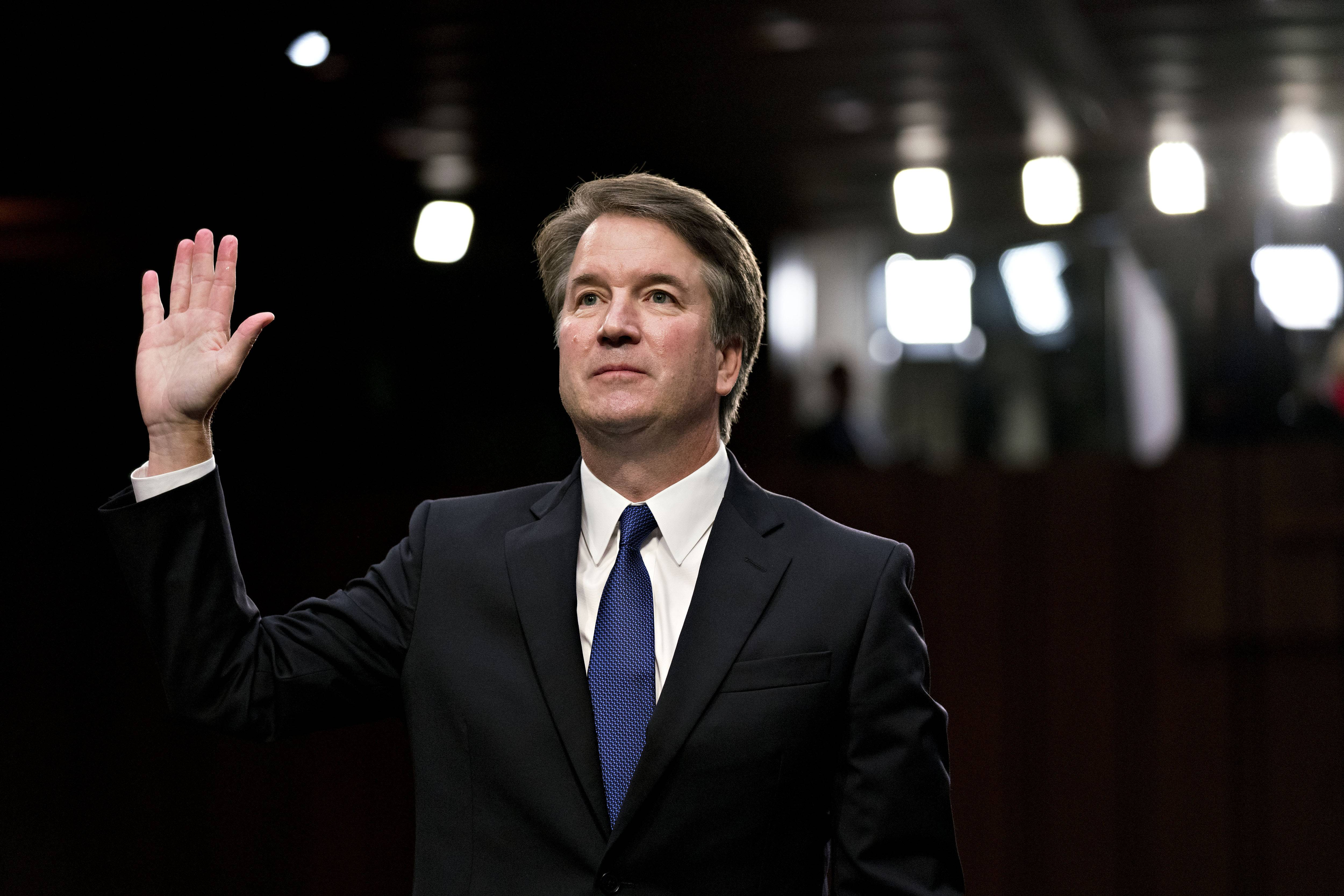 Supreme Court nominee Brett Kavanaugh at his Senate Judiciary Committee confirmation hearing in Washington on Sept. 4, 2018.