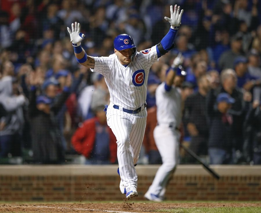 best sneakers 41c02 99d19 Chicago Cubs clinch playoff spot, win in dramatic fashion