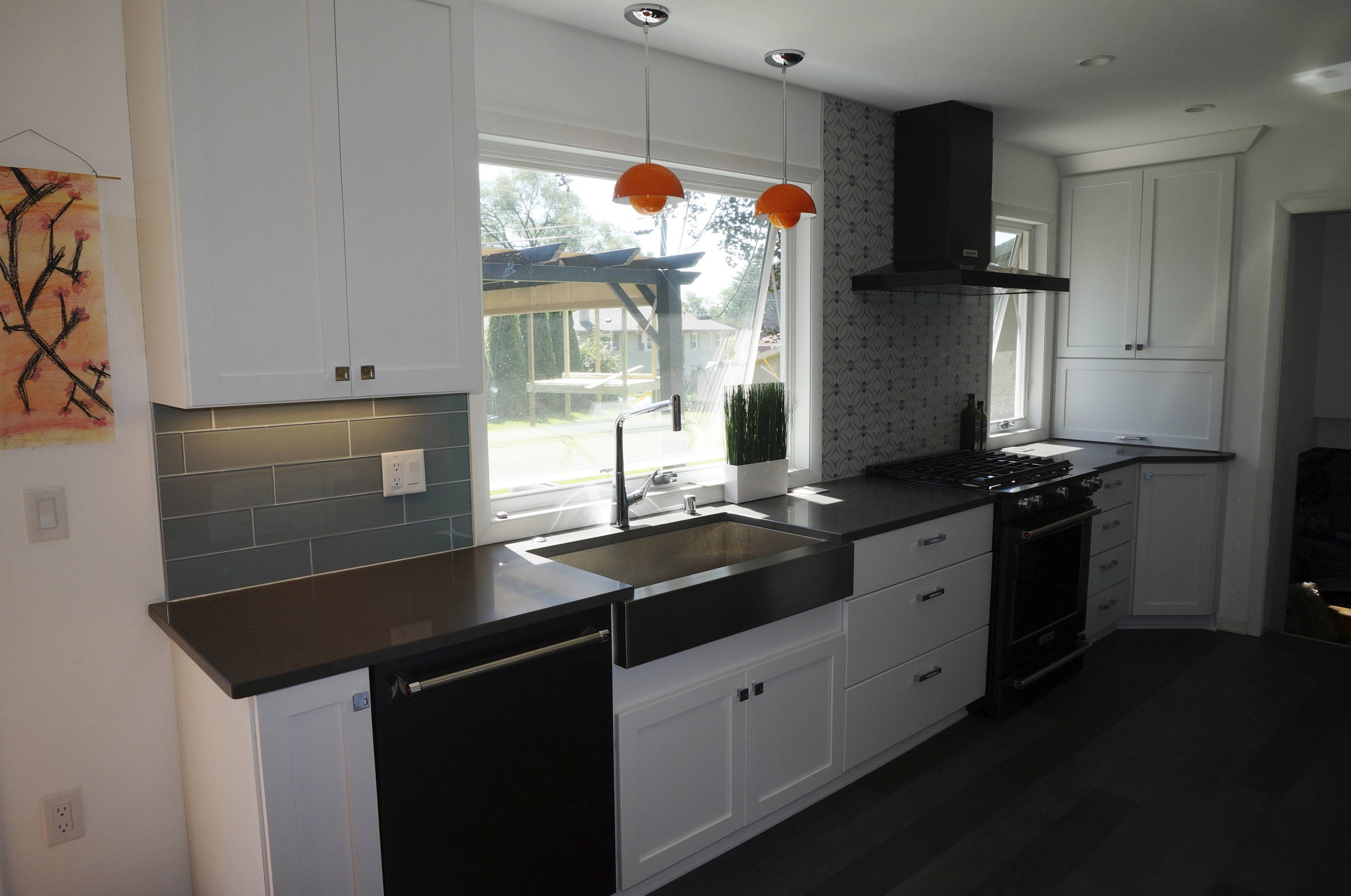 During A Remodel, The Main Kitchen Window Was Enlarged In This New Berlin,  Wis