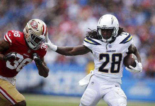 0717daf9 Rivers throws for 3 TDs as Chargers rally to beat 49ers