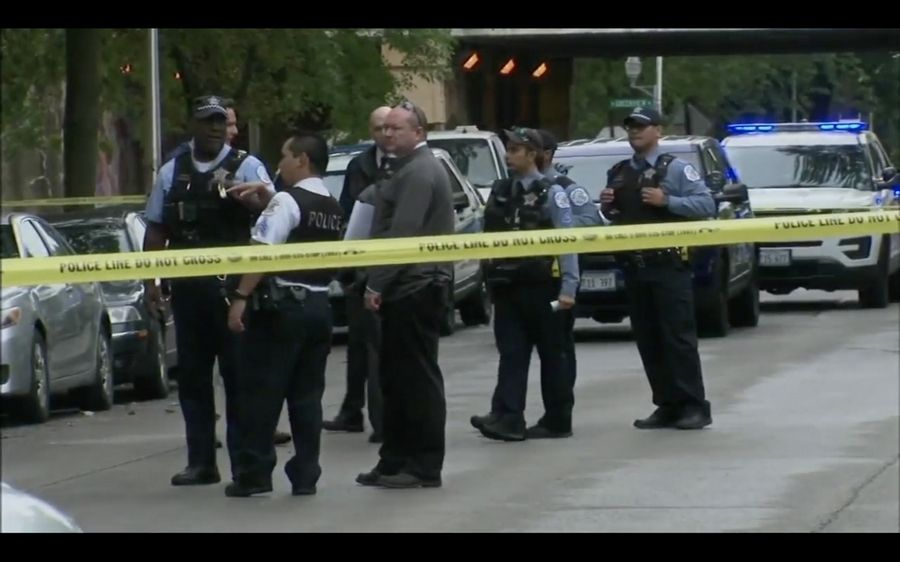 Authorities investigate a shooting in Chicago's Rogers Park neighborhood.