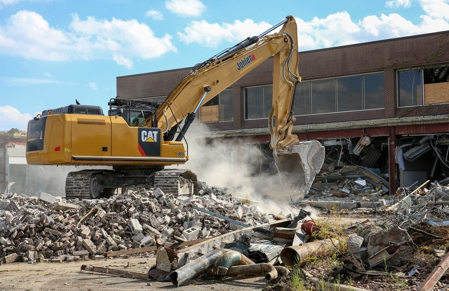 Demolition of Motorola Solutions' former Galvin Center at its onetime Schaumburg headquarters continues Wednesday to make way for redevelopment.