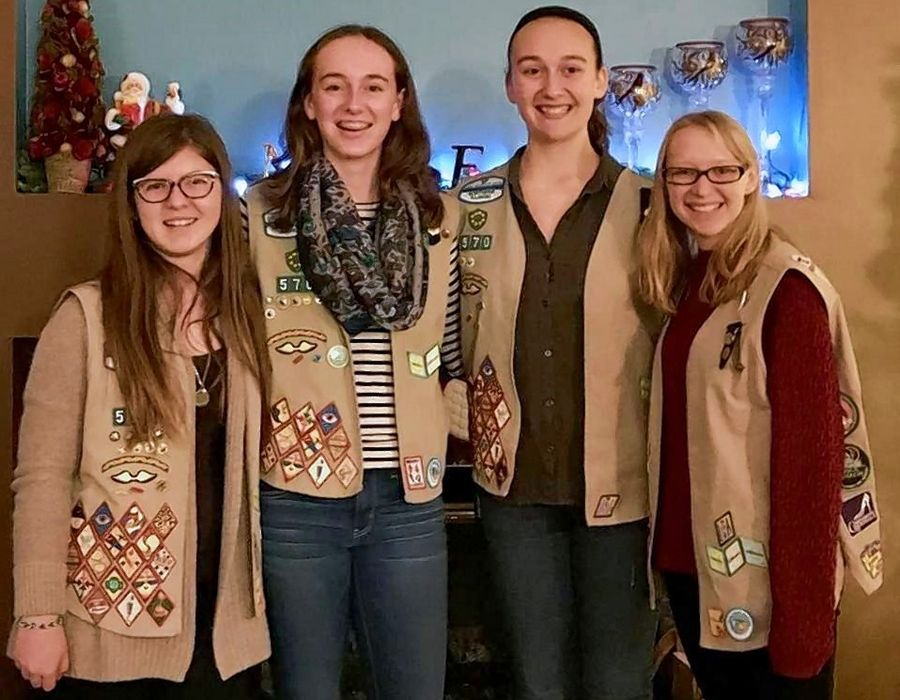 Bartlett Girl Scout Troop 570 members Katie Sanders, Bridget Benson, Sara Regan and Lauren Kohl created an Illinois Bicentennial patch that fellow Girl Scouts from across the state can earn.