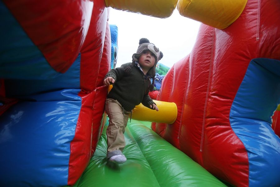 There is no charge for the bounce houses and kids' activities at the Grant Township and Fox Lake Fall Festival.