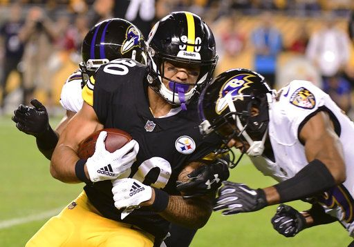 e414b076b Pittsburgh Steelers running back James Conner (30) is stopped by Baltimore  Ravens cornerback Marlon