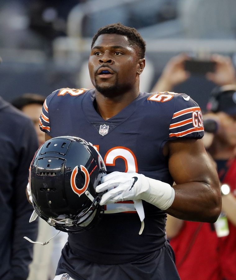 Bears linebacker Khalil Mack is the NFC Defensive Player of the Month, the NFL announced Thursday.