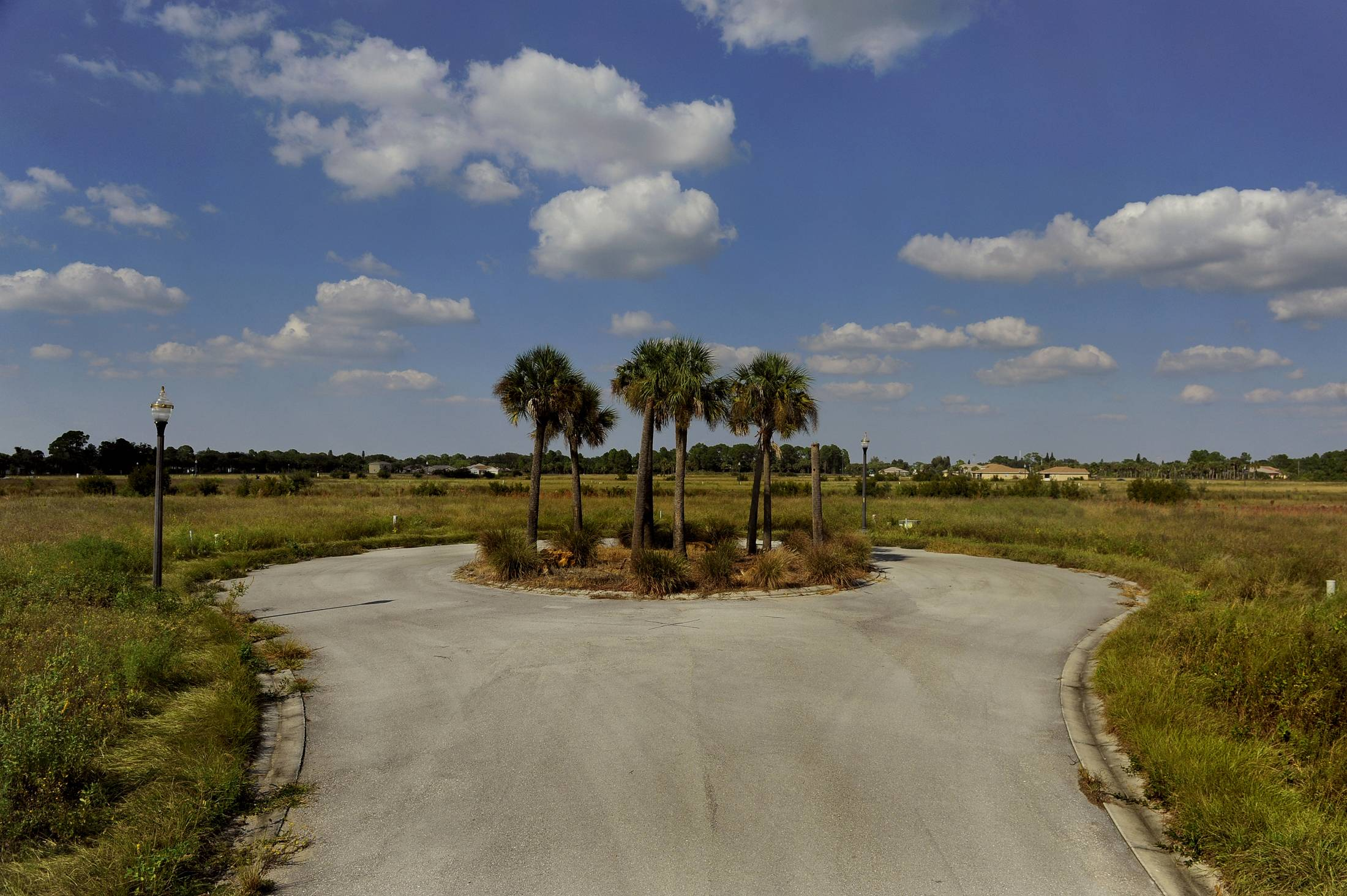 The developer of this housing development in Fort Myers, Fla., went out of business before it could be completed.