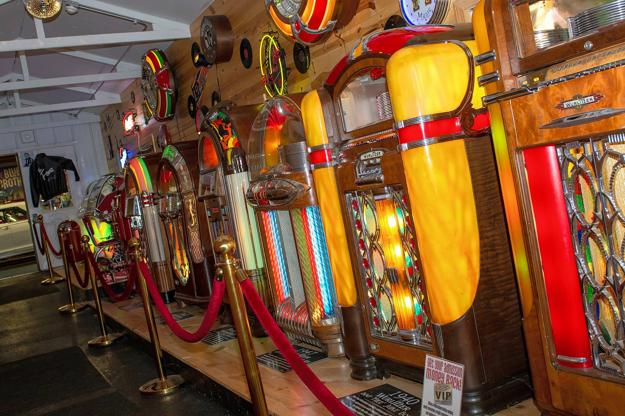 Visitors to the Volo Auto Museum will find a display of vintage jukeboxes.