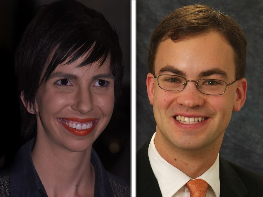 Democrat Anne Stava-Murray, left, and Republican incumbent state Rep. David Olsen are candidates in the 81st House District race on Nov. 6.