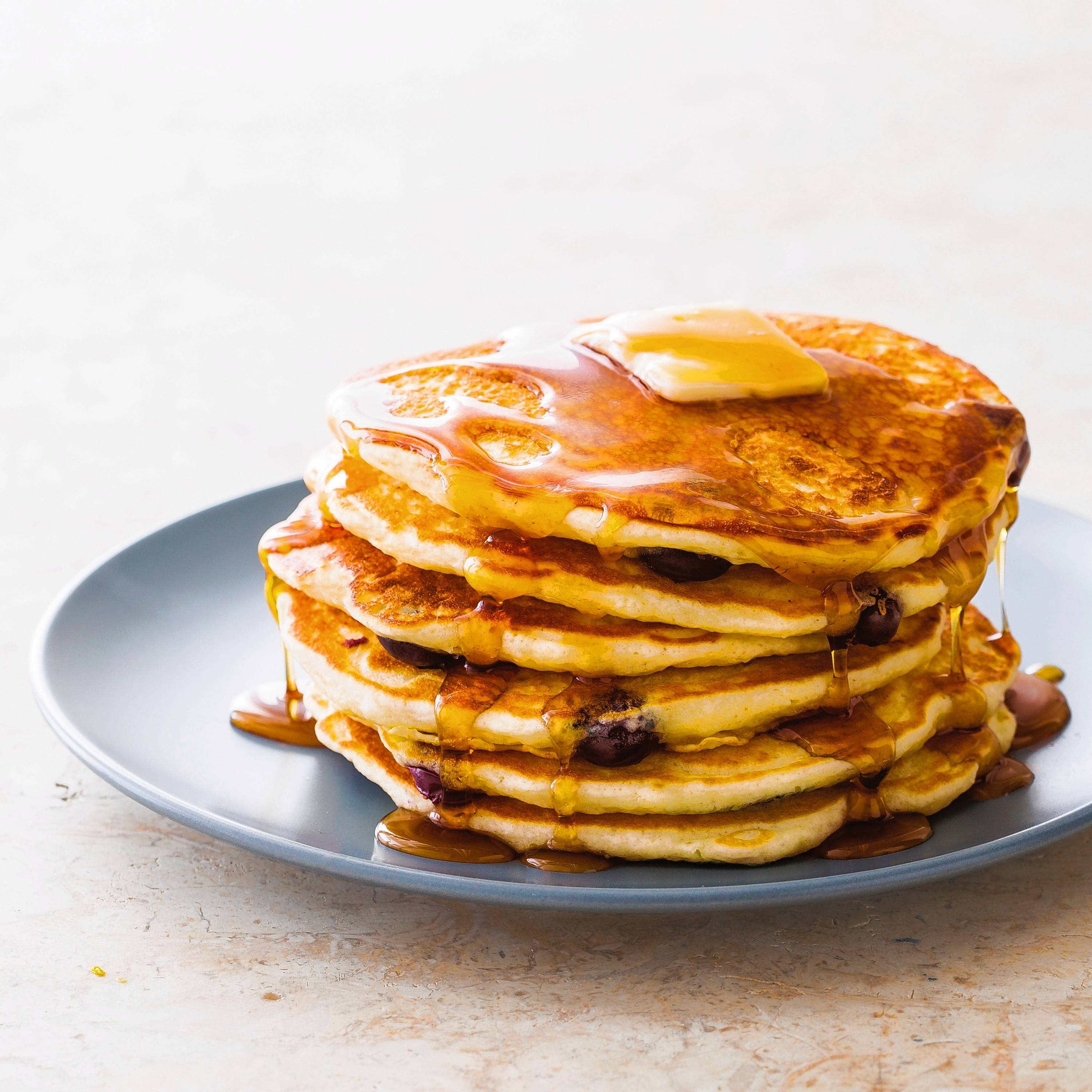 Start a classic brunch with a stack of airy, tangy pancakes