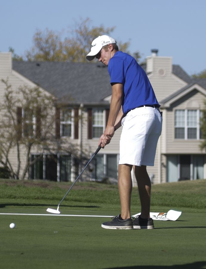 Like teammate Tyler Isenhart, Jack McDonald is a four-time state qualifier for the Vikings.