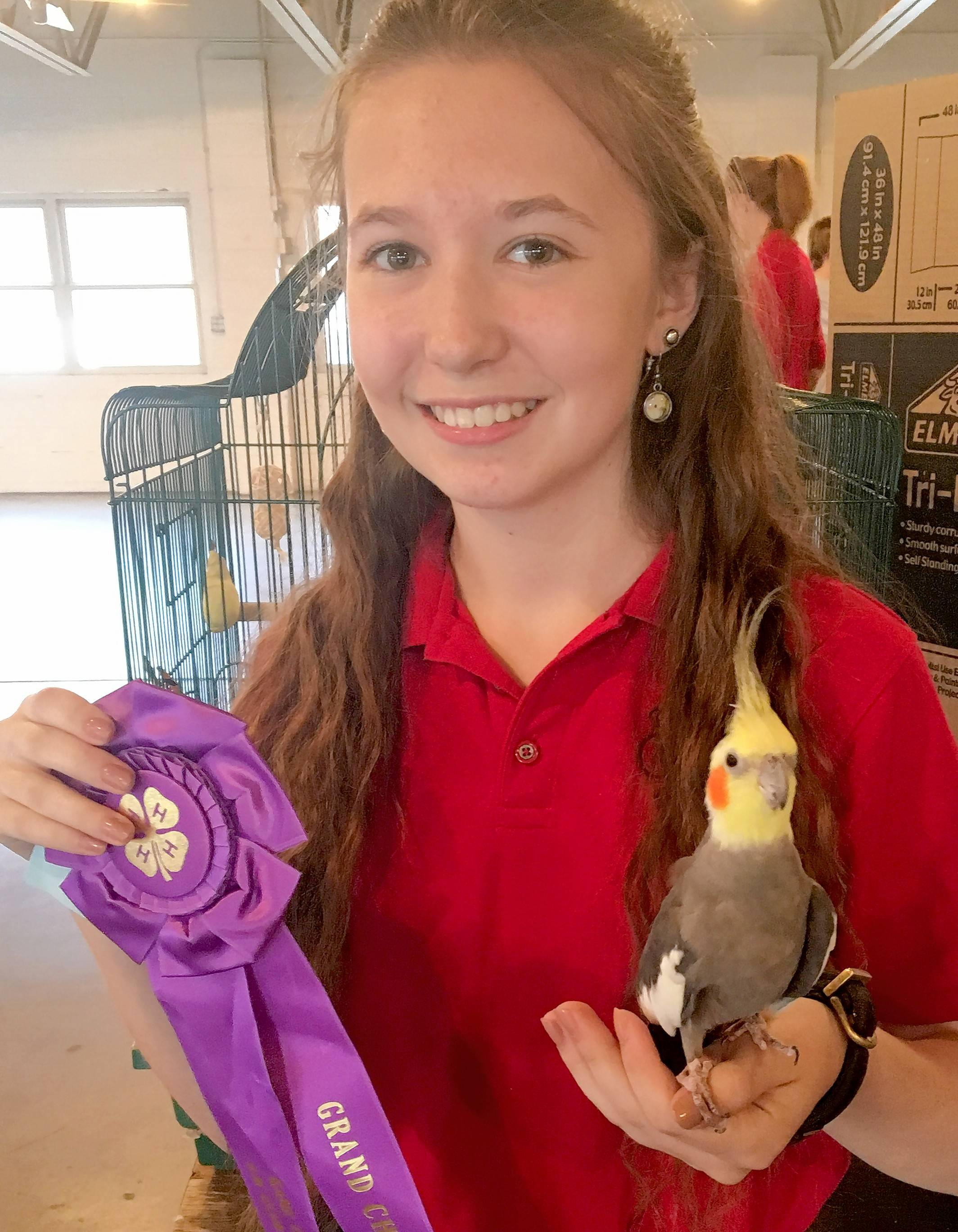 4-H member Dana Connell of St. Charles earns grand champion in the senior class of the Kane County 4-H Small Pets Show in July. With 100-plus project areas, youth can explore sciences, careers, leadership, creative arts, global and civic engagement, healthy living and nutrition, STEM and more.