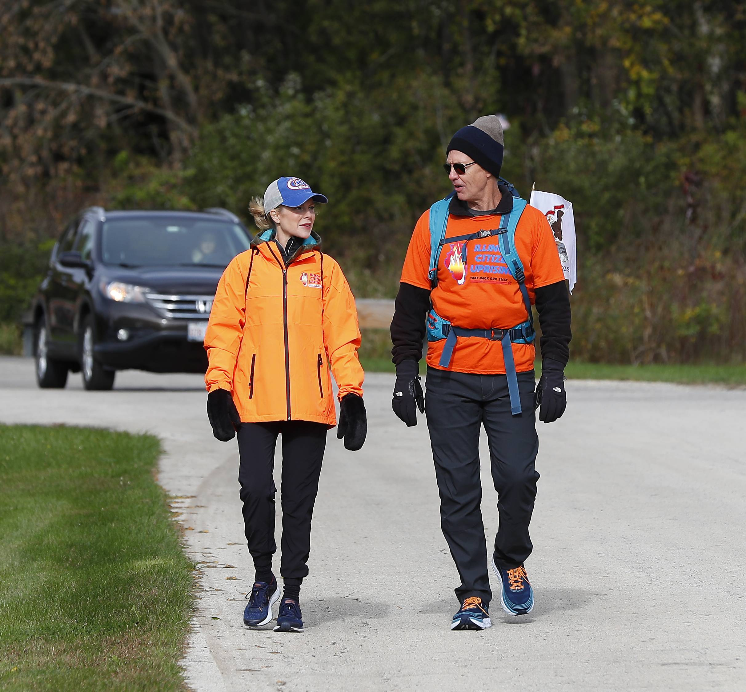 Jim Coxworth, founder of the nonpartisan group Illinois Citizen Uprising, begins a 187-mile walk Thursday from his Campton Hills home to Springfield to protest gerrymandering and fight for term limits.