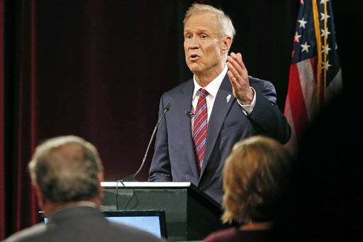 Rauner, Pritzker trade jabs over leadership, taxes at debate