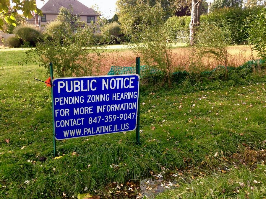 A developer is expected to return before the Palatine village council next month to further address concerns about a proposed four-home subdivision on this site in the 800 block of Hillside Street creating stormwater drainage problems in the area. The site is southwest of Palatine and Quentin roads.