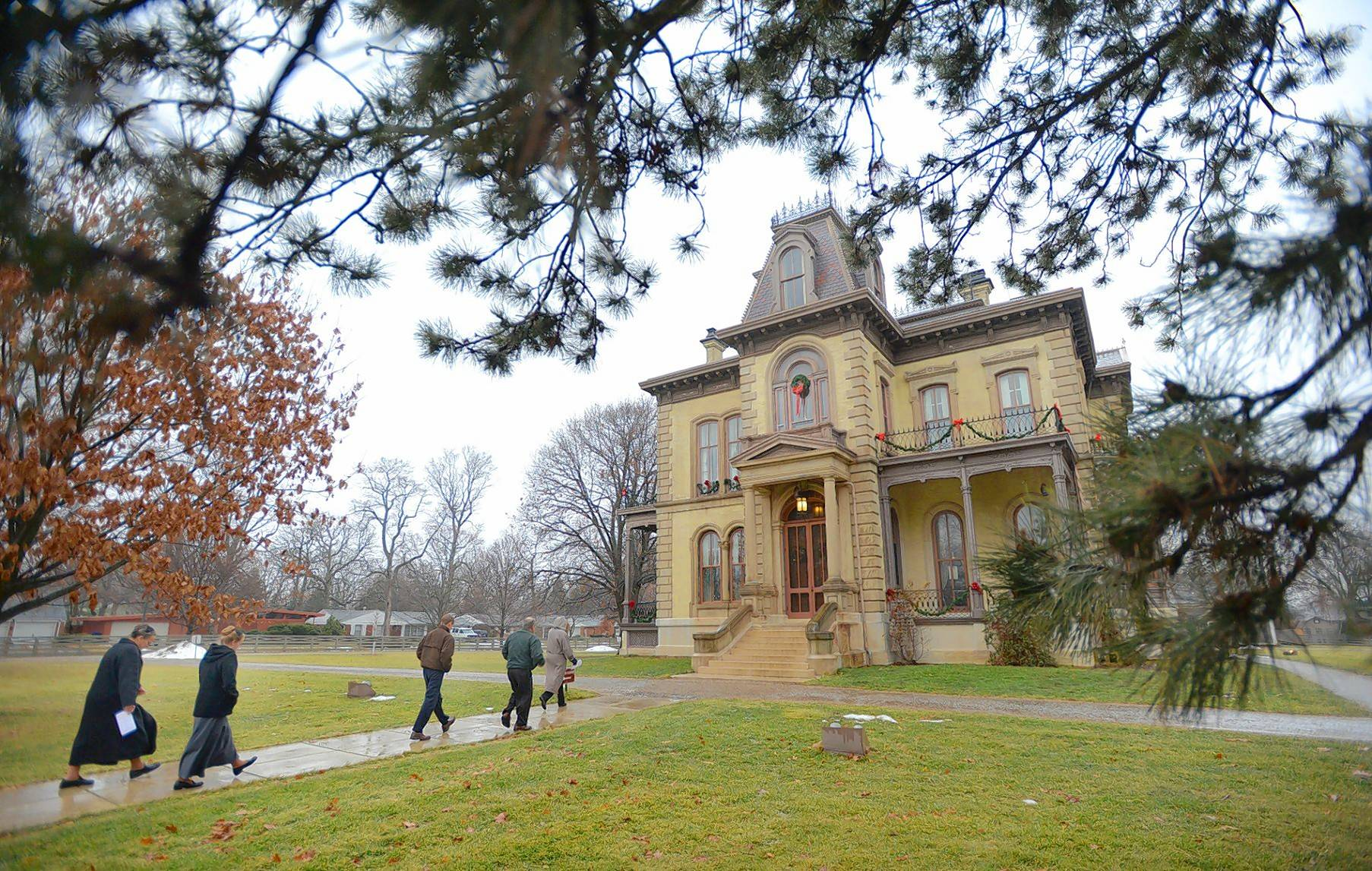 The David Davis mansion in Bloomington was the home of an Abraham Lincoln friend credited with helping to engineer Lincoln's nomination for president.