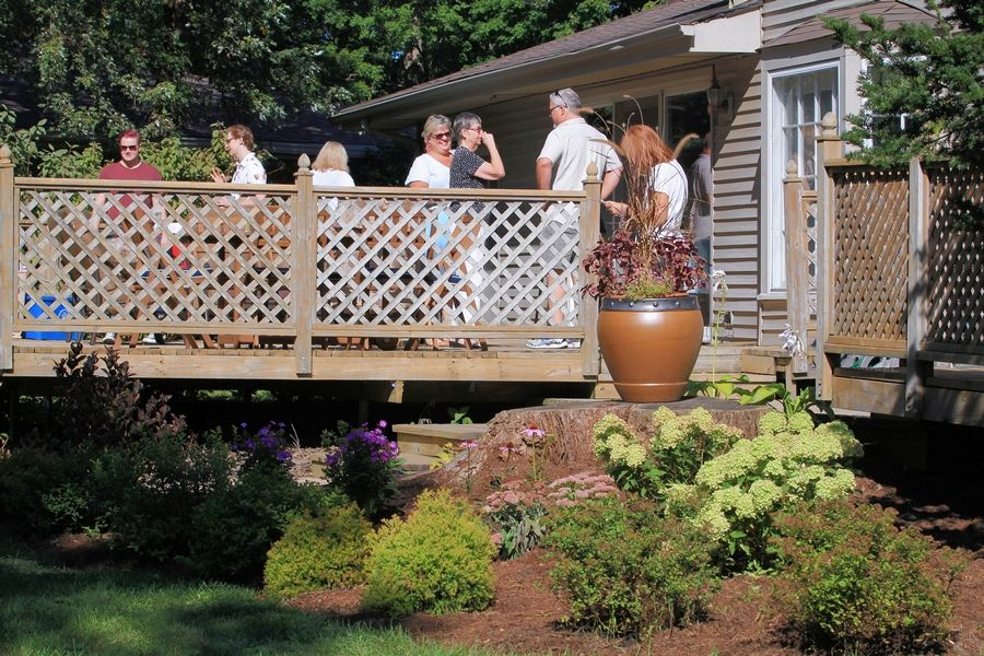 About 20 family members and friends gathered at the family's home in late September for a catered Weber on Wheels party on the Grosses' deck.