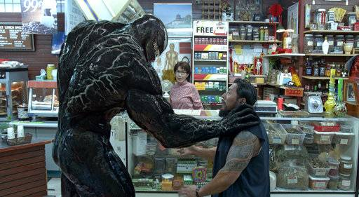 """Venom"" is still at the top of the box office."