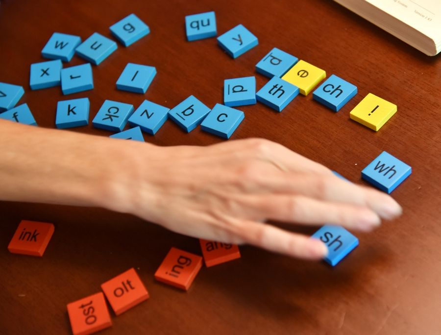 Color-coded tiles for letters and parts of words are involved in the multisensory Barton Reading & Spelling System, which is among proven methods to help students with dyslexia build the skills they need to improve their understanding of phonetics, decoding and sounding out words.