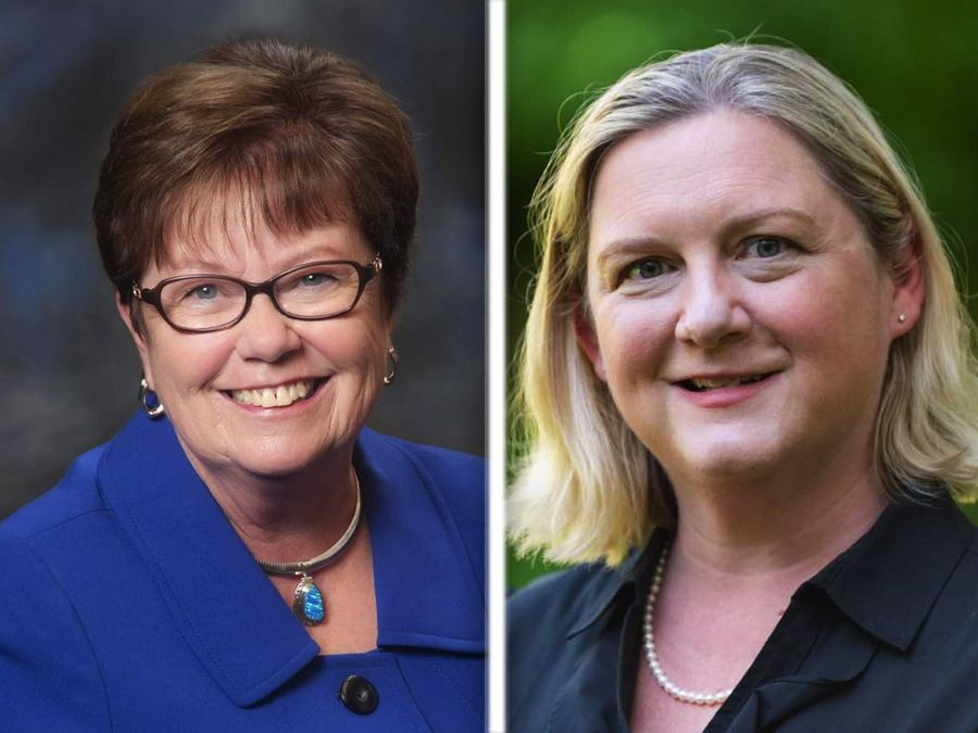 Carol Calabresa, left, and Jennifer Clark, right, are candidates for Lake County Board District 15.