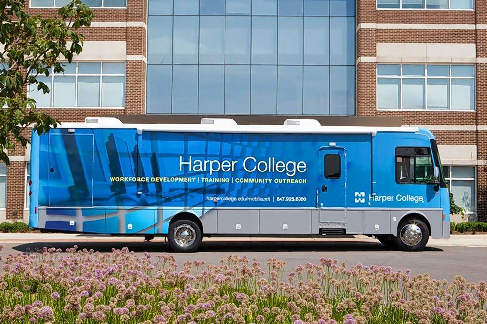 Harper College's mobile classroom will be part of next month's inaugural STEAM Fair at the Palatine Public Library District. STEAM stands for science, technology, engineering, arts and mathematics.