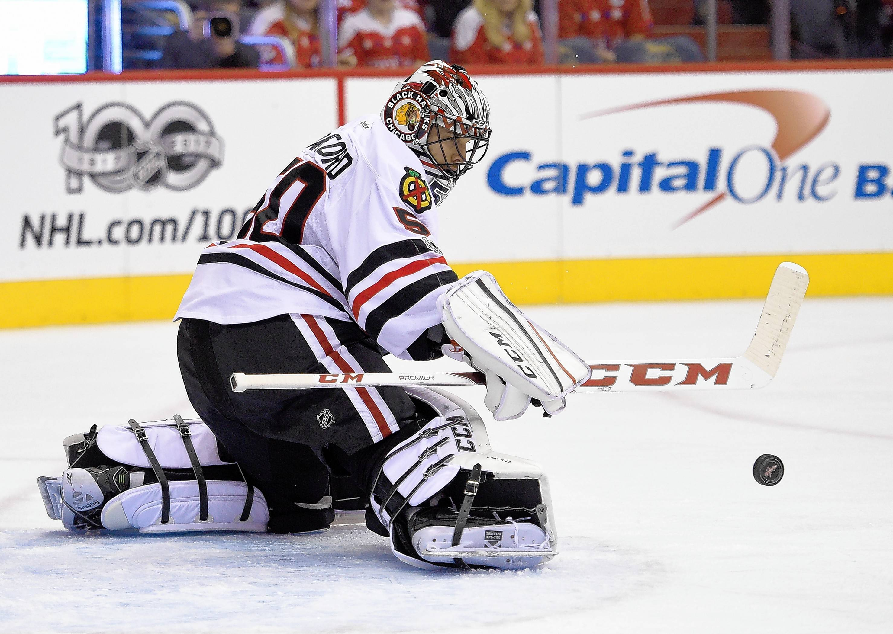 Corey Crawford is expected back in the next Thursday when the Blackhawks host Arizona. Crawford hasn't played since last December because of a concussion.
