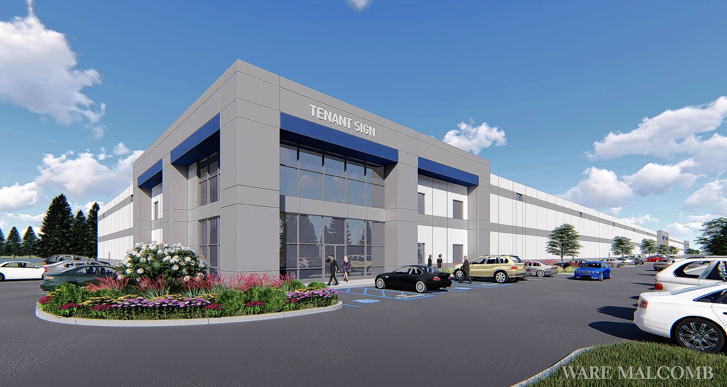 A rendering shows the 265,550-square-foot industrial building under construction at the southwest corner of North Avenue and Morton Road in Winfield. Developers expect the facility to bring 210 to 250 jobs.
