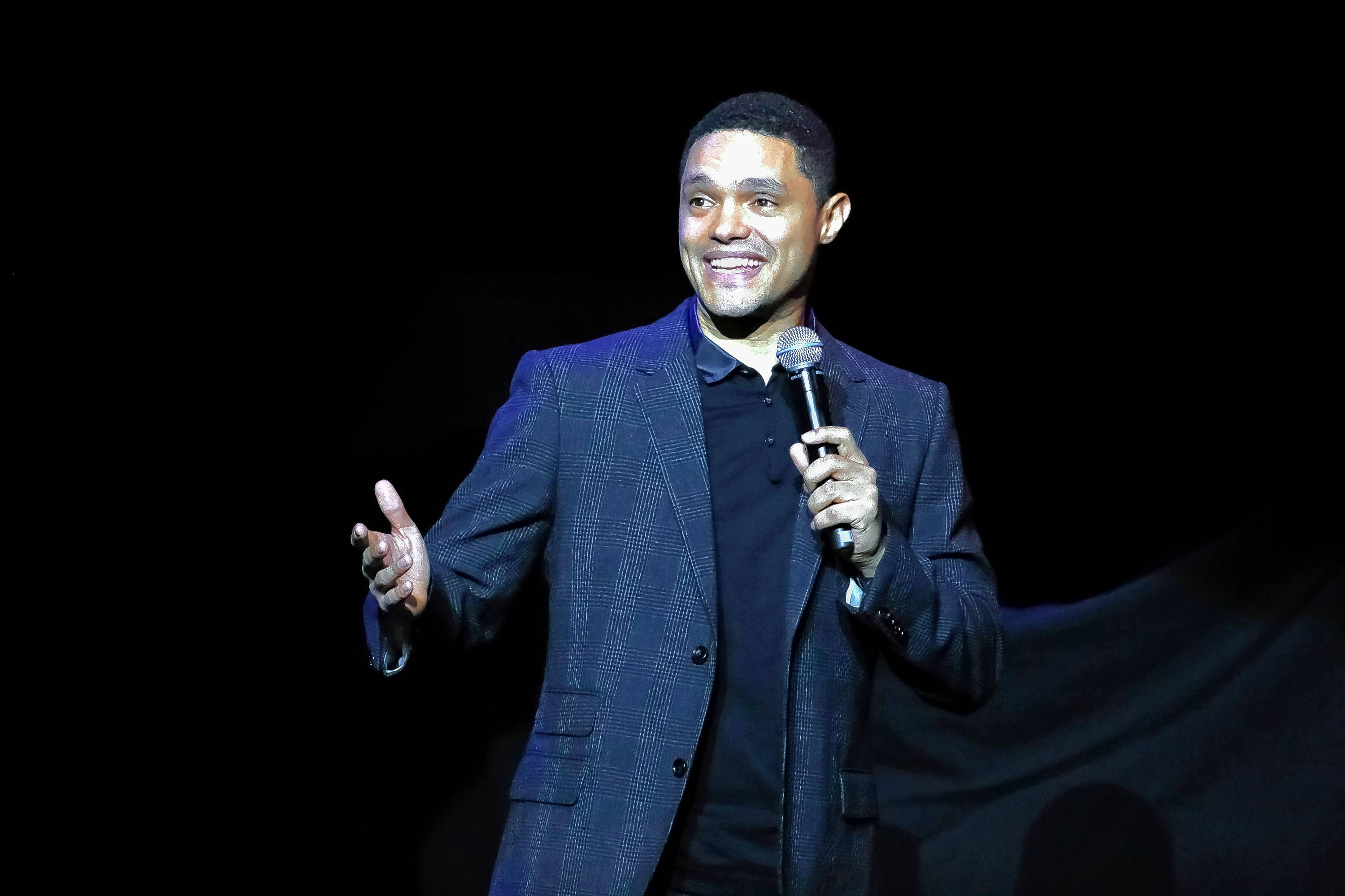 "Comedian Trevor Noah brings his ""Loud & Clear Tour"" to the Chicago Theatre at 8 p.m. Saturday, April 27."