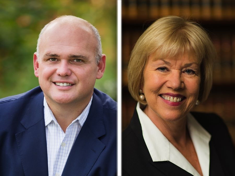 Republican Barrett Davie, left, and Democratic incumbent Julie Morrison are running for state Senate District 29