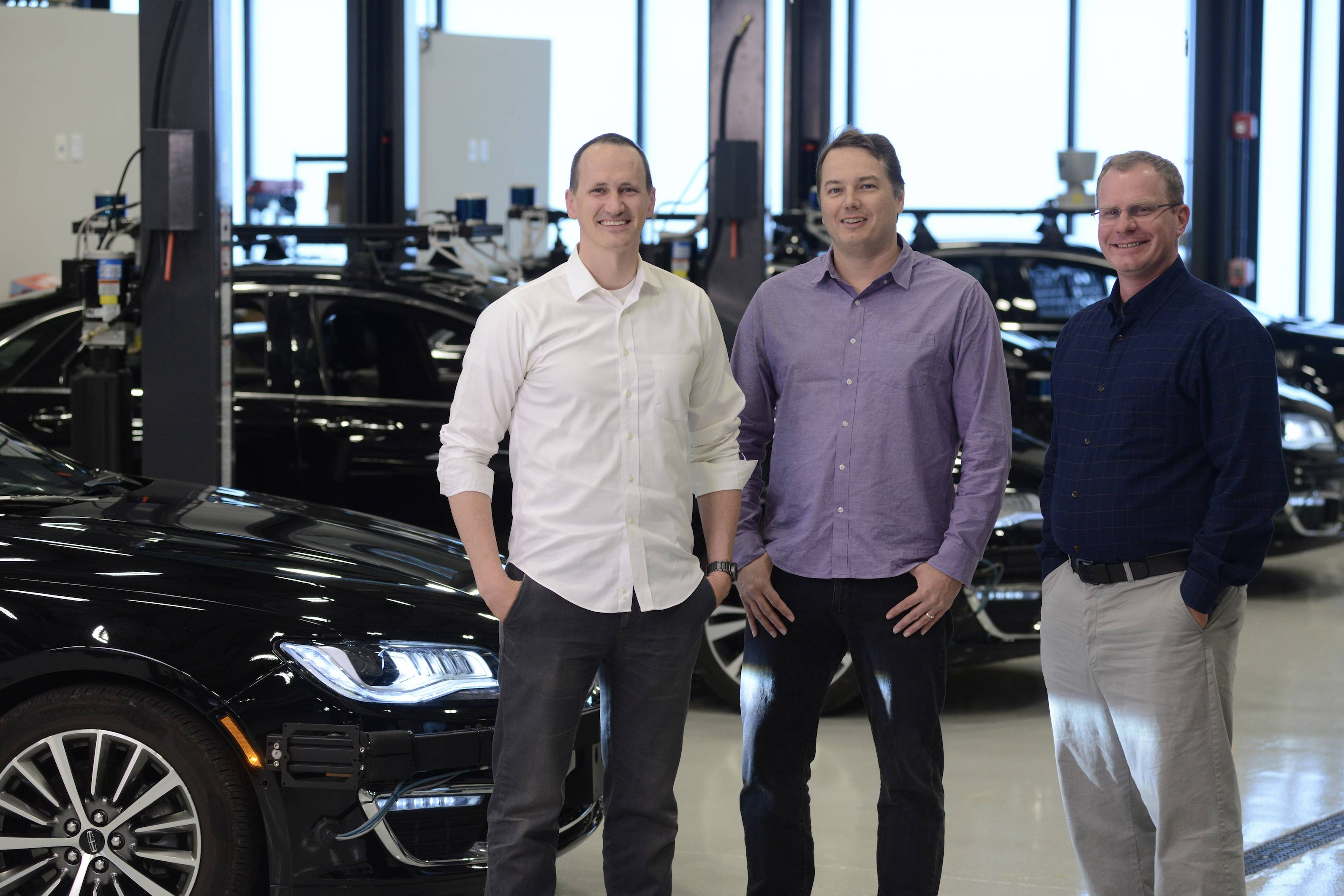 Sterling Anderson, Chris Urmson and Drew Bagnell are the three founders of Aurora Innovation, a company that creates software for self-driving cars.
