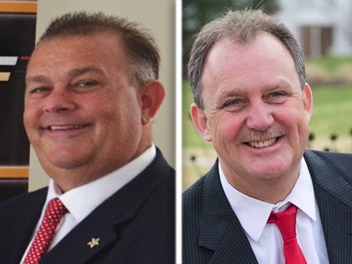 Mike Kelley, left, and Jim Reilly are candidates for Will County Sheriff