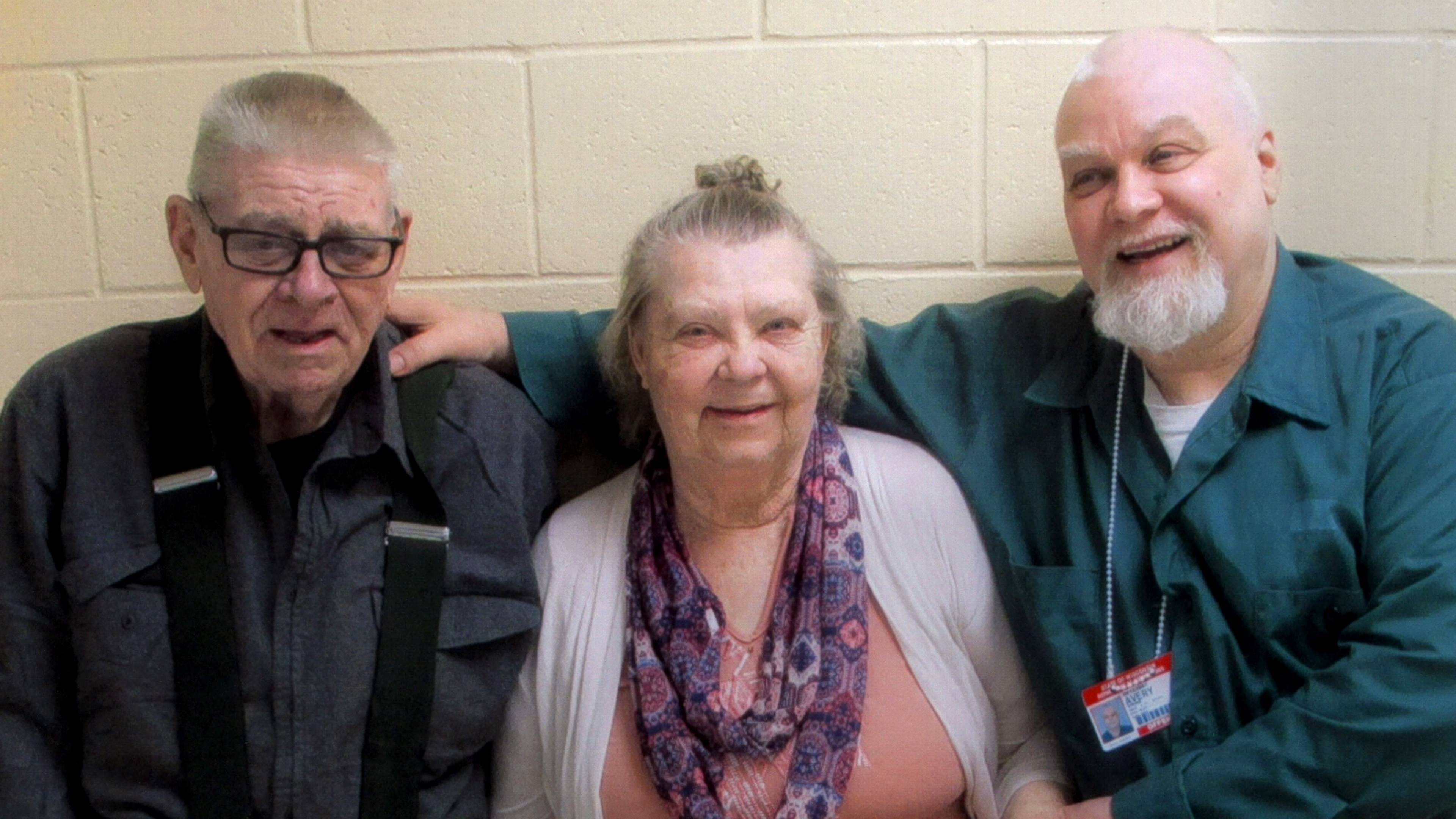 "Steven Avery, right, with his parents Allan and Dolores in ""Making a Murderer: Part 2."""