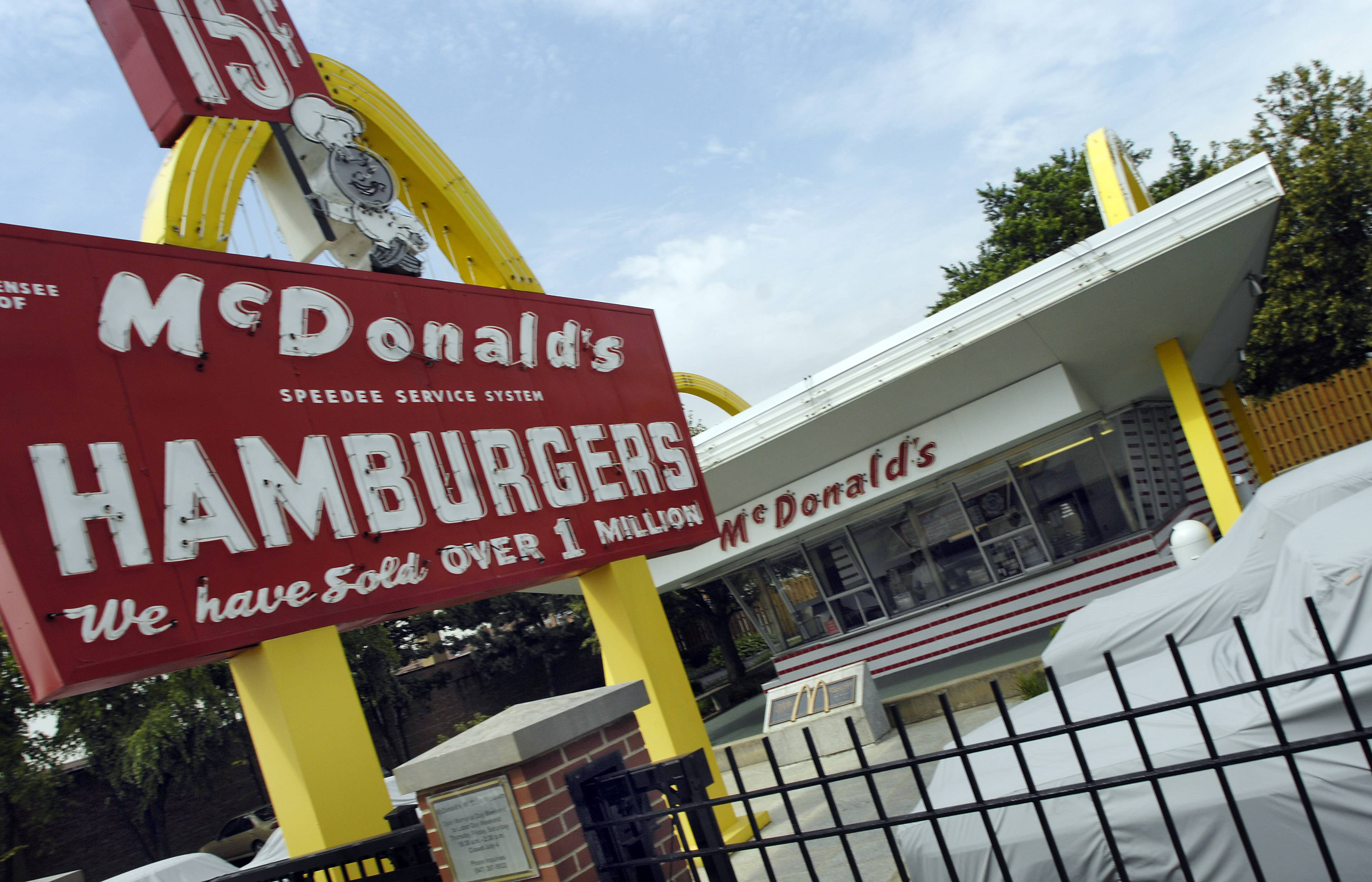 After the museum's interior closed in 2008, McDonald's continued to have the cars covered when the weather was bad and removed them from the lot entirely for storage during the harsh Illinois winters, according to Mecum Auctions.