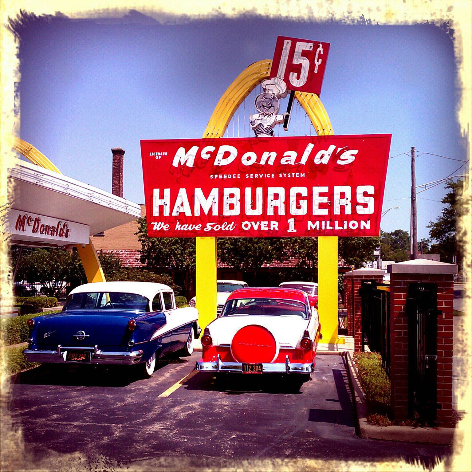 The car's were added to the McDonald's Museum in Des Plaines sometime after it ceased being an operating restaurant in 1984. Ray Kroc first opened for business there on April 15, 1955.