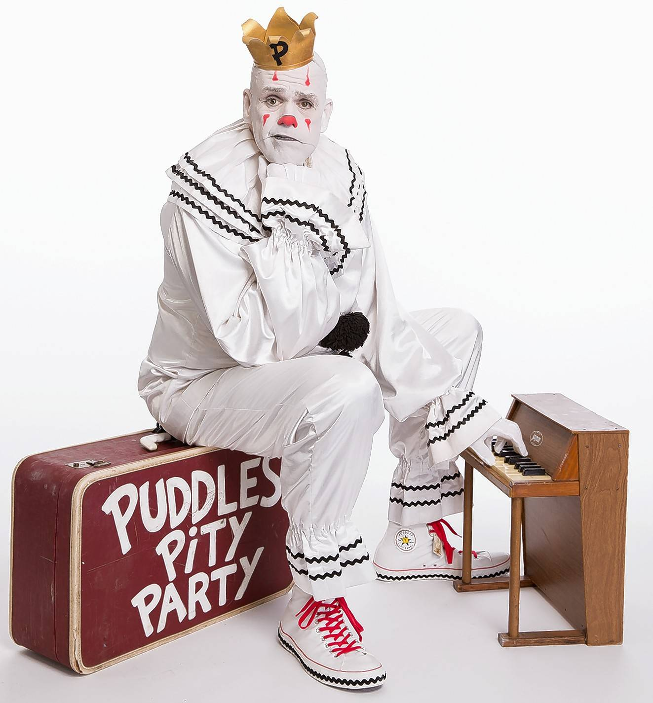 "Puddles the singing clown brings his ""Puddles Pity Party"" to the Raue Center for the Arts in Crystal Lake."
