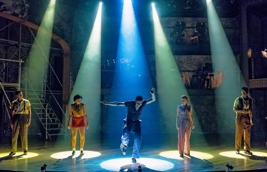 "Jared Grimes' electrifying choreography for Drury Lane Theatre's revival of ""42nd Street"" earned him a 2018 Joseph Jefferson Award."