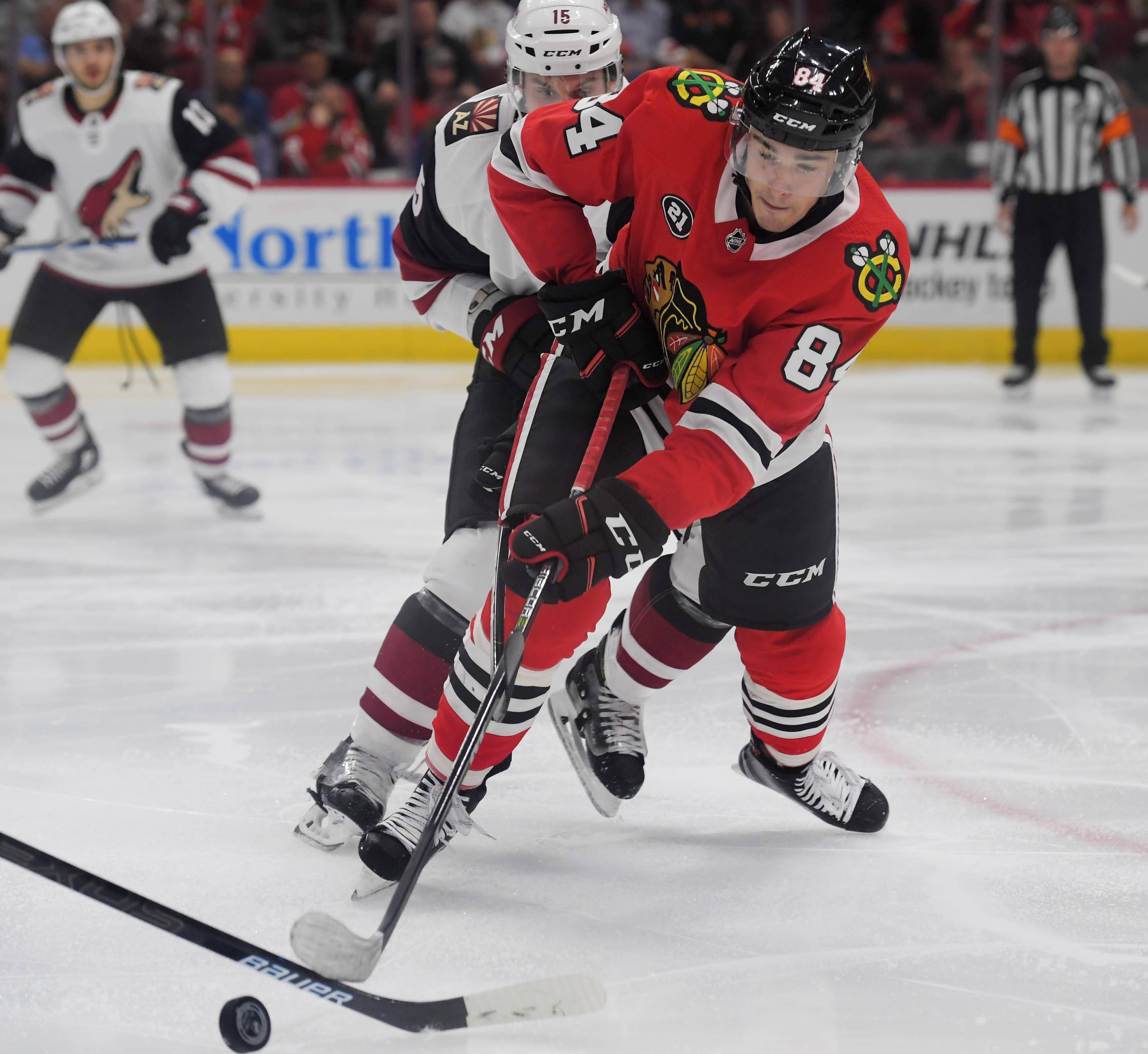 Speedy Blackhawks left wing Alexandre Fortin hopes he's here to stay after a solid start to the season.
